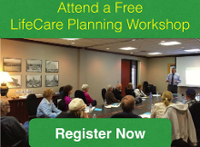 Attend a Free LifeCare Planning Workshop Button
